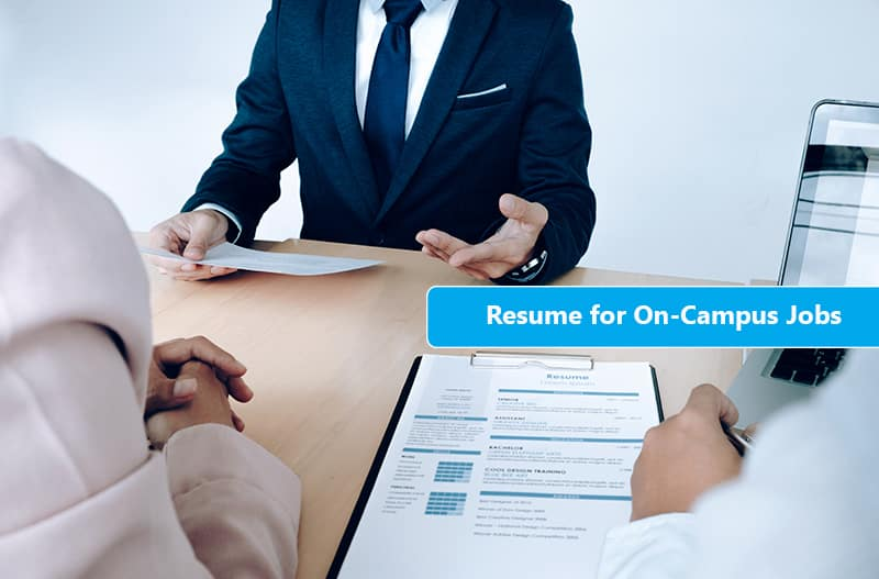 on-campus job resume format